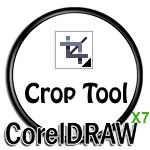 Crop tool icon in CorelDRAW