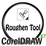 Roughen Tool Icon in CorelDRAW