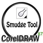 Smudge Tool Icon in CorelDRAW