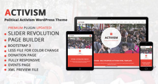 Political Activism Theme Preview