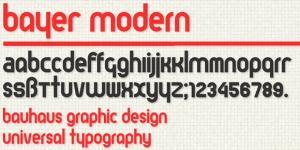 Bayer Modern Font