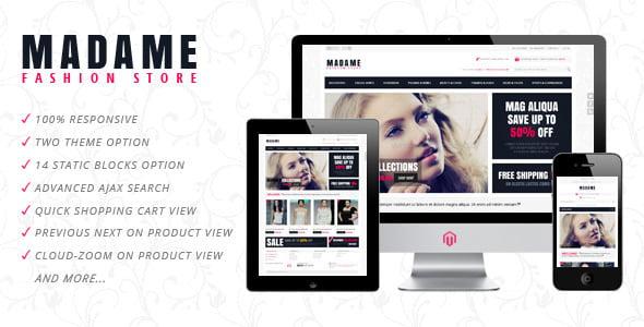 Madame Responsive Fashion Store Magento Theme Cover