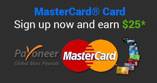 Payoneer Master Card Banner