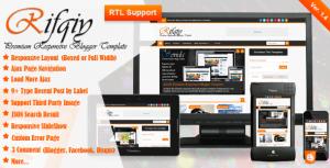 Rifqiy News Blogger Template Cover