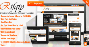 Rifqiy News Blogger Template Cover