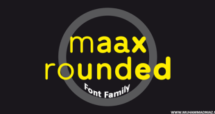 Maax Rounded Font Cover