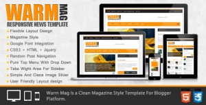 WarmMag Template Cover
