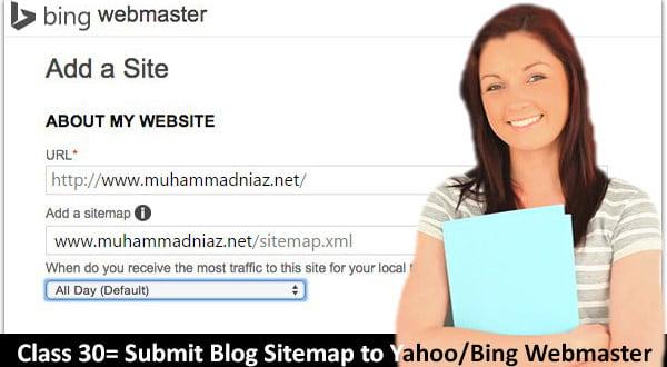 submit blog sitemap to bing webmaster tools