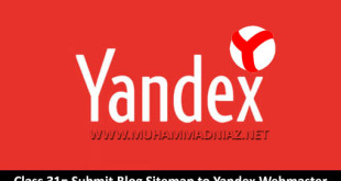 Submit Blog Sitemap to Yandex Webmaster Cover