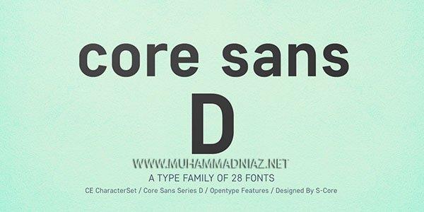 Core Sans D Font Cover