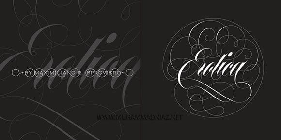 Erotica Font Cover
