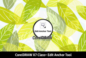 Edit anchor tool from CorelDRAW