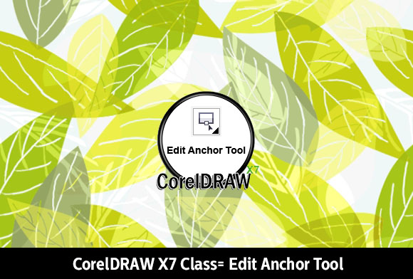 Edit anchor tool from CorelDRAW