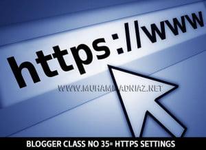 Blogger https Settings