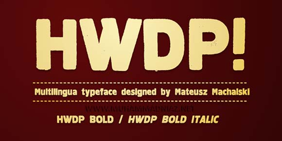 HWDP Font Preview