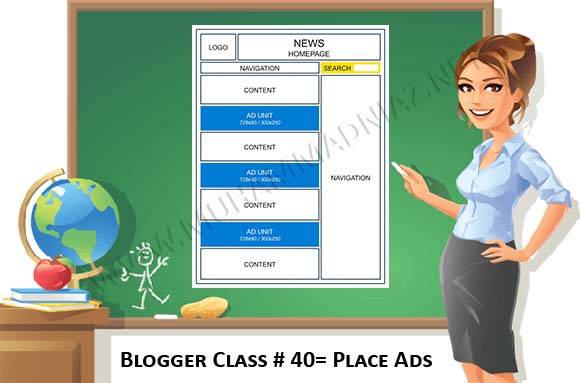 Insert ads in Blogger Cover