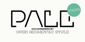 Pale Preview Font Cover