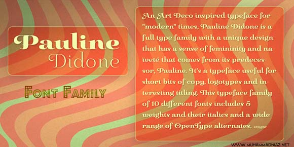 Pauline Didone Font Family Cover Preview