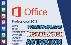 MS Office 2013 Activation Cover
