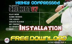 EA Sports Cricket 2007 Installation Cover
