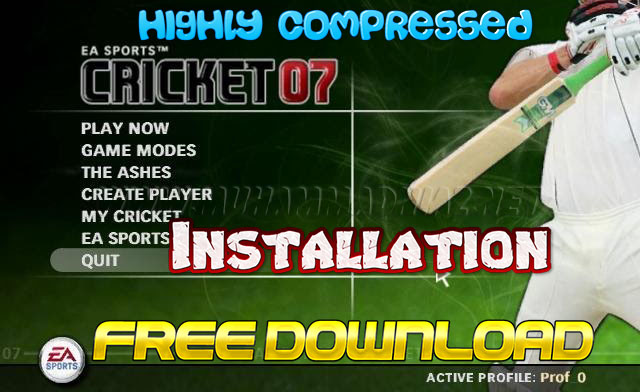 EA Sports Cricket 2007 Installation Cover