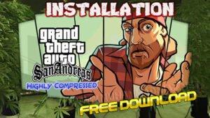 GTA San Andreas Installation Cover